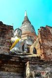 Świątynny wata Yai chaimongkol Zdjęcia Royalty Free