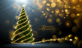 Święta świeci drzewa Zdjęcia Stock