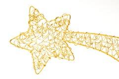Święta świeci gwiazdę Zdjęcie Stock