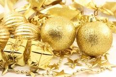 Święta asortymentów złote fotografia stock