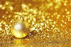 Święta bal złote Obraz Royalty Free