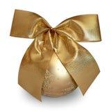 Święta bal złote Fotografia Royalty Free