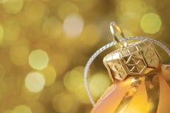 Święta bal złote Fotografia Stock