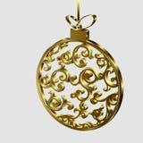 Święta bal złote Obrazy Stock