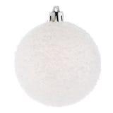 Święta bauble białe Fotografia Royalty Free