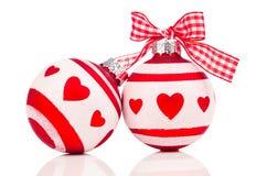 Święta bauble czerwone Fotografia Royalty Free
