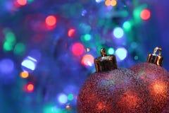 Święta baubles Zdjęcia Royalty Free