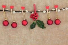 Święta baubles Obrazy Stock
