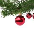 Święta baubles czerwone Fotografia Royalty Free