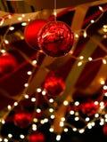 Święta baubles wstążki Fotografia Royalty Free