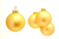 Święta baubles złote Obraz Royalty Free