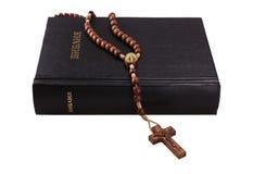 Święta Biblia i krzyż Fotografia Stock