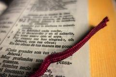 Święta biblia w hiszpańszczyznach Obrazy Royalty Free