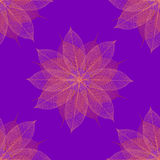 święta bożego bezszwowy wzoru kwiecisty fioletowy Zdjęcia Stock