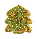 święta bożego ciasteczka zielone drzewa Zdjęcie Royalty Free