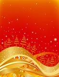 święta bożego czerwonego złota Zdjęcia Stock