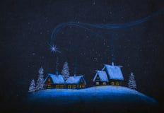 święta bożego fractal nocy obrazu gwiazda Obrazy Royalty Free