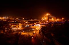 święta bożego miasta wróżki Łotwy nocy prowincjonału podobnej wkrótce bajka Zdjęcie Stock