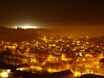 święta bożego miasta wróżki Łotwy nocy prowincjonału podobnej wkrótce bajka Zdjęcia Stock