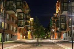 święta bożego miasta wróżki Łotwy nocy prowincjonału podobnej wkrótce bajka W perfect geometrycznym powiązaniu ulica fotografia royalty free