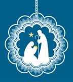 święta bożego narodzenia jezusa sceny ilustracyjny wektora Zdjęcie Royalty Free
