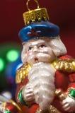 święta bożego ornamentuje Santa Claus kryształ fotografia stock