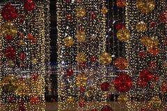 święta bożego pojęcia dekoracji kolorowe wakacje ornamentuje tradycyjnego sezonowego Zima wakacje i tradycyjni ornamenty Oświetle Obrazy Royalty Free