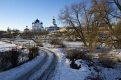 Święta Bogolyubovo monasteru zima obraz stock