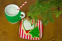 Święta ciasteczek mleka Obraz Royalty Free