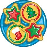 Święta ciasteczek płytki Obrazy Royalty Free