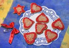 Święta ciasteczka domowej roboty Fotografia Royalty Free