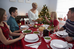 Święta dekorują obiadowych domowych świeżych pomysłów Zdjęcie Stock