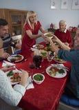 Święta dekorują obiadowych domowych świeżych pomysłów Obraz Stock