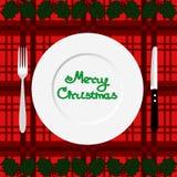 Święta dekorują obiadowych domowych świeżych pomysłów obiadowy eps ilustracyjny jpeg czas wektor Obrazy Stock