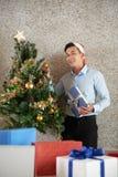 Święta dekoruje drzewa zdjęcia royalty free