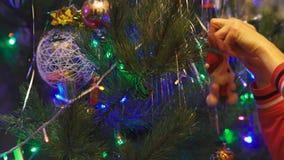 Święta dekoruje drzewa zbiory wideo