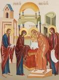 Święta Dziewica wchodzić do świątynia Fotografia Royalty Free