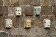 Święta idol statua od Tiwanaku Fotografia Royalty Free