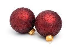 Święta ii pary ornamentów drzewo fotografia royalty free