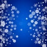Święta ilustracyjnych tła płatków śniegu white wektor royalty ilustracja