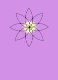 Święta joga ikona na lawendzie Fotografia Stock