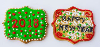 Święta kolor ciasteczka Obrazy Royalty Free