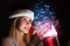 Święta komuś pończochy paskować paluszkach drzewa swiat niespodzianek Fotografia Royalty Free
