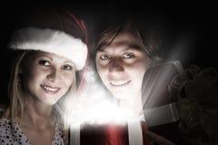 Święta komuś pończochy paskować paluszkach drzewa swiat niespodzianek Obraz Royalty Free