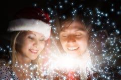 Święta komuś pończochy paskować paluszkach drzewa swiat niespodzianek Obrazy Stock