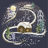 Święta kształtują obszar magiczną noc Zdjęcia Stock