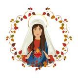 święta Maria dziewica ilustracja wektor