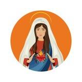święta Maria dziewica royalty ilustracja