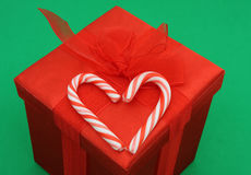 Święta ndy trzcin prezent Zdjęcie Stock
