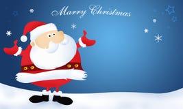 Święta poślubiają Santa Claus Obraz Stock